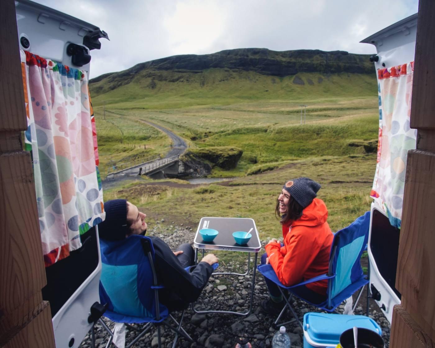 Iceland Van Living
