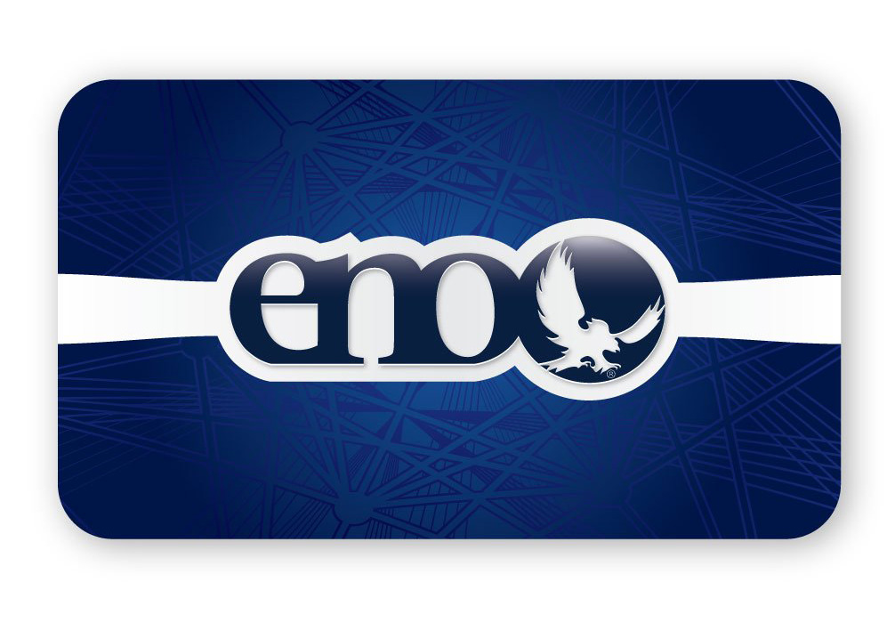 A studio image of an ENO gift card.