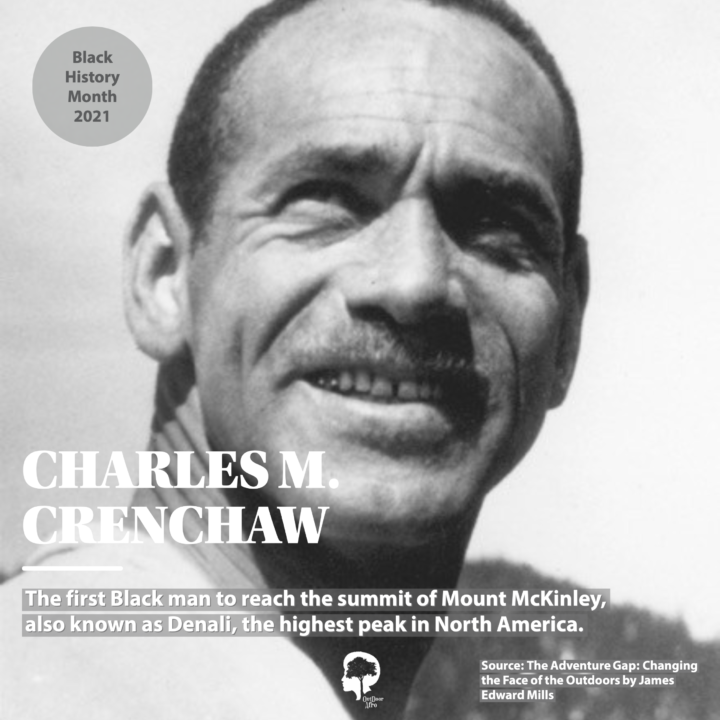 A portrait of Charles M. Crenchaw, who was the first Black man to reach the summit of Mount McKinley, the highest peak in North America.