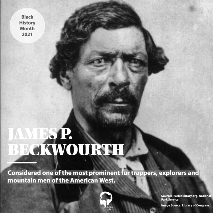 A portrait of James P. Beckwourth, who is considered one of the most prominent fur trappers, explorers, and mountain men of the American West.