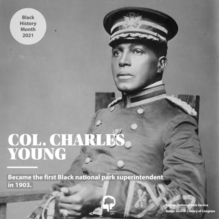 A portrait of Col. Charles Young, who was the first Black national park superintendent in 1903.